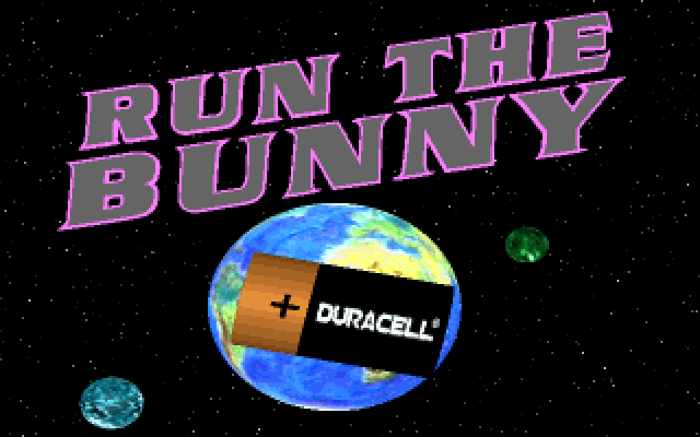 Title screen from Duracell: Run the Bunny