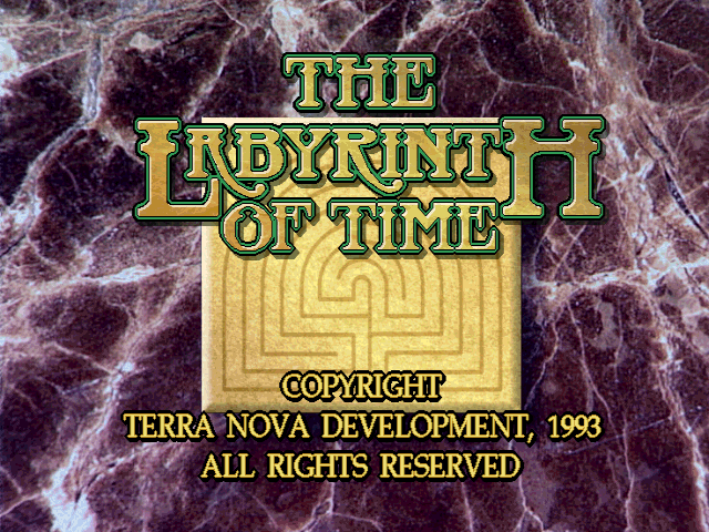 Title screen from The Labyrinth of Time