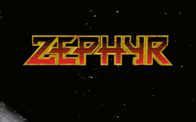 Title screen from Zephyr