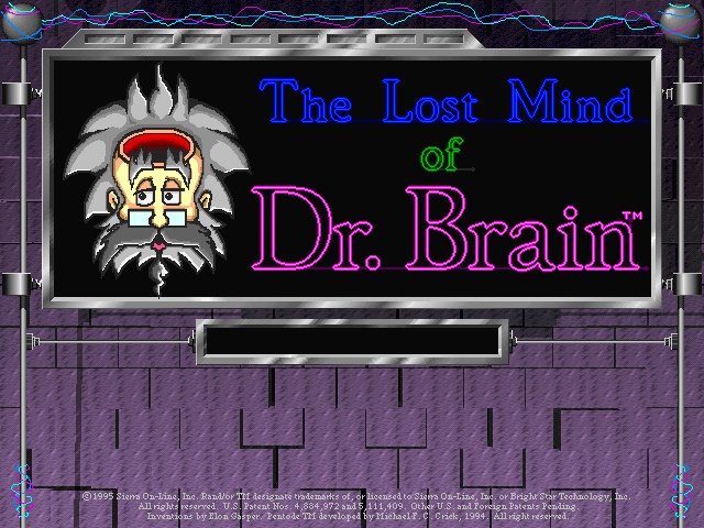 Title screen from The Lost Mind of Dr. Brain