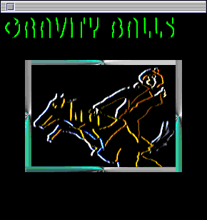 Title screen from Gravity Balls