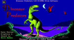 Title screen from Dinosaur Predators