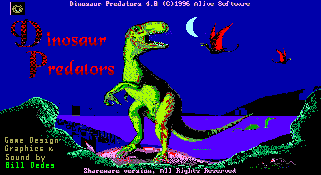Title screen from Dinosaur Predators