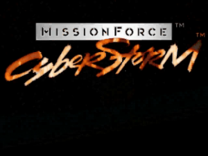 Title screen from MissionForce: CyberStorm