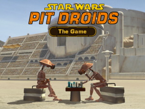 Title screen from Star Wars Pit Droids!