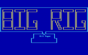 Title screen from Big Rig