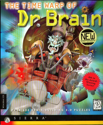 Box art for The Time Warp of Dr. Brain