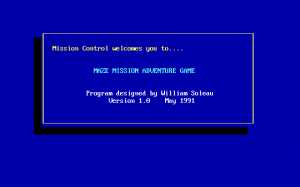 Title screen from Maze Mission Adventure Game
