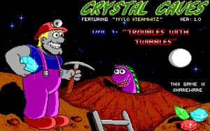 Title screen from Crystal Caves