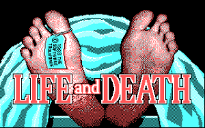 Title screen from Life & Death