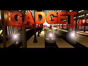 Title screen from GADGET: Invention, Travel, & Adventure