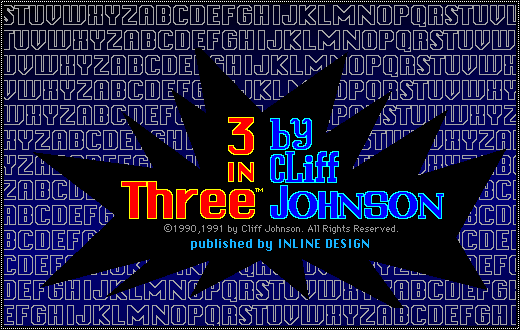 Title screen from 3 in Three