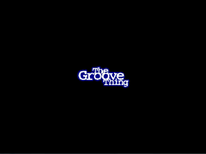 Title screen from The Groove Thing