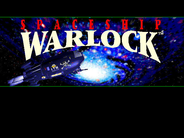 Title screen from Spaceship Warlock