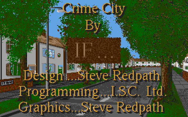 Title screen from Crime City