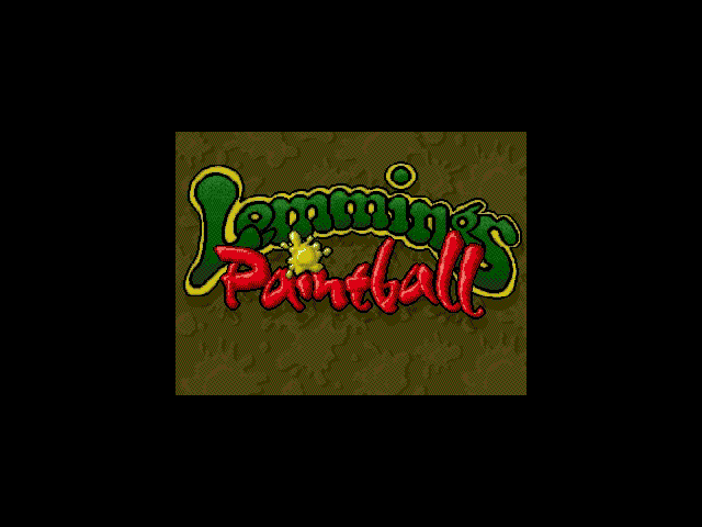 Title screen from Lemmings Paintball