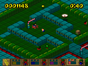 Screenshot from Lemmings Paintball
