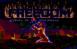 Title screen from Freedom: Rebels in the Darkness