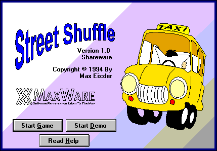 Title screen from Street Shuffle