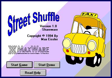 Title screen of Street Shuffle