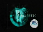 Screencapture of the Majestic and EA Games logos from a publicity video by Mercury Multimedia