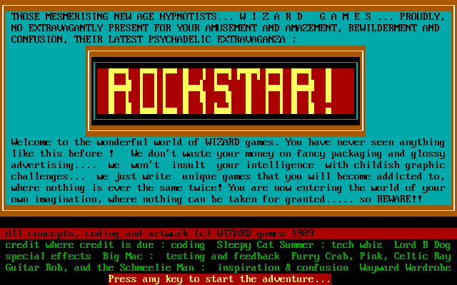 Title screen from Rockstar!