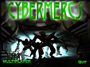 Title screen from Cybermercs