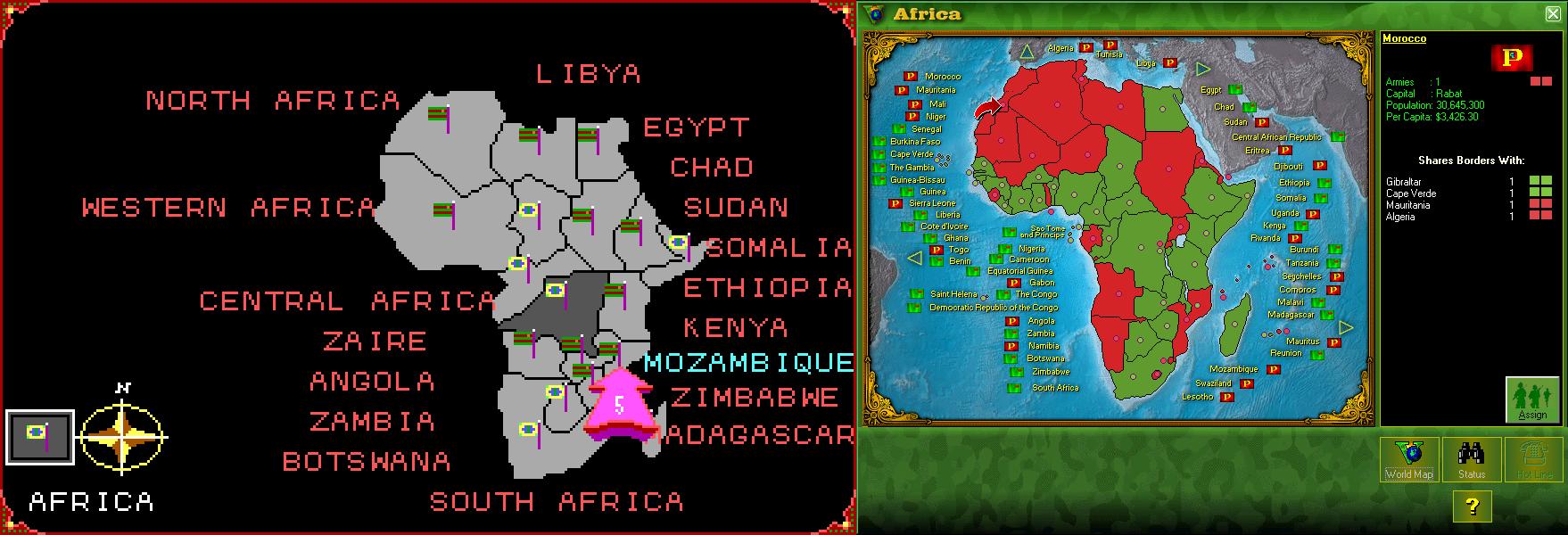 Screenshots from World Empire and World Empire V