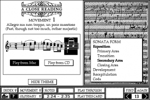 Screenshot from Beethoven's Ninth Symphony