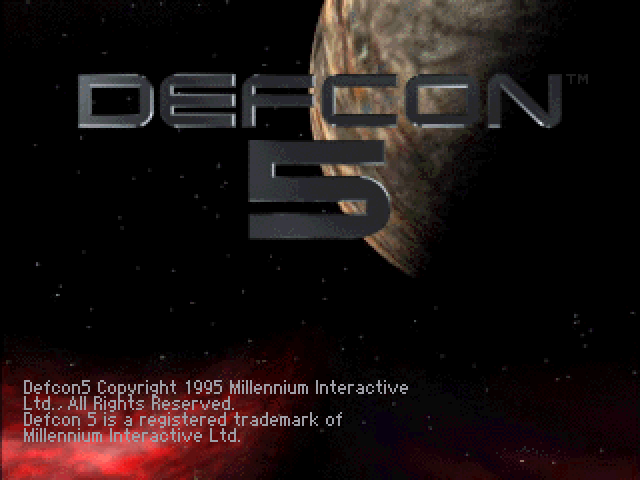 Title screen from Defcon 5