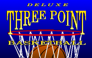 Title screen from Three Point Basketball Deluxe