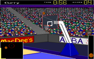 Screenshot from Three Point Basketball Deluxe