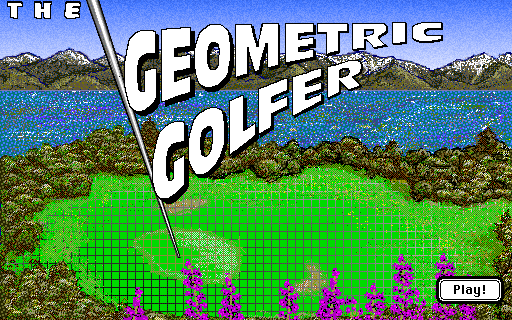 Title screen from The Geometric Golfer