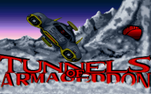 Title screen from Tunnels of Armageddon