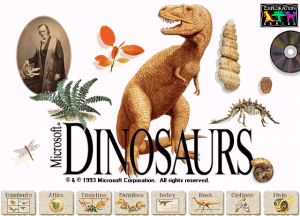 Title screen from Microsoft Dinosaurs