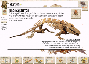 Screenshot from Microsoft Dinosaurs