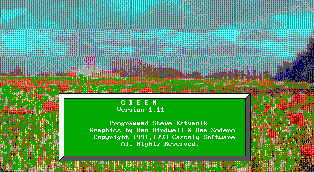 Title screen from Green