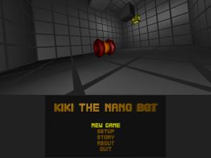 Title screen from kiki the nano bot