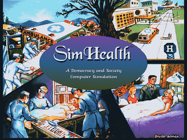 Title screen from SimHealth