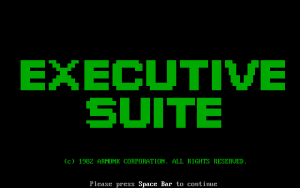 Title screen from Executive Suite