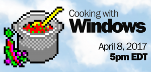 Cooking with Windows banner