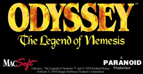 Title screen from Odyssey: The Legend of Nemesis