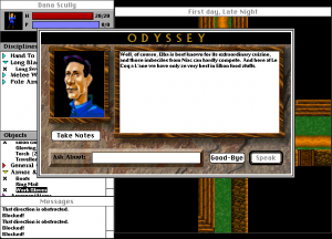 Screenshot from Odyssey: The Legend of Nemesis