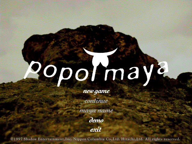 Title screen from popol maya