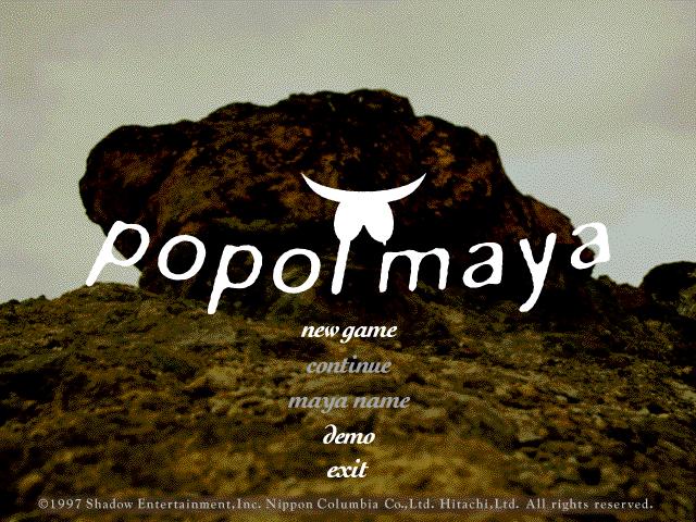 Title screen from popol maya