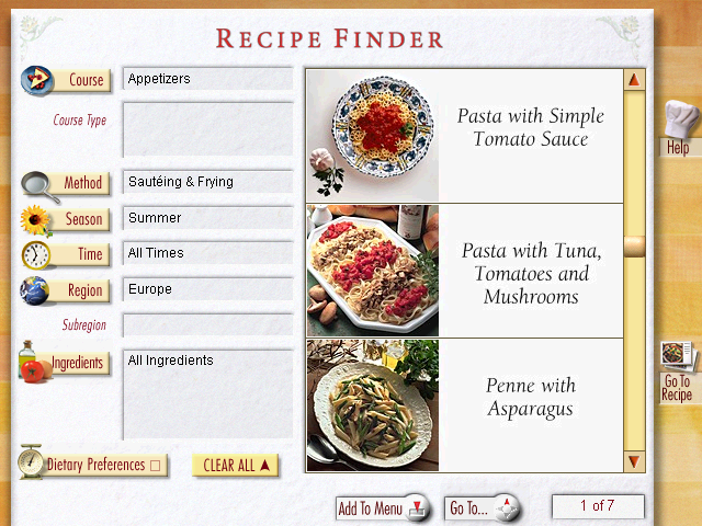 Screenshot from Williams-Sonoma Guide to Good Cooking