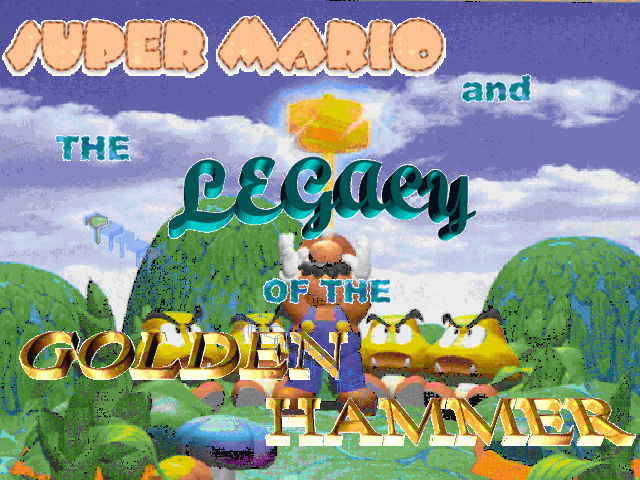 Title screen from Legacy Of The Golden Hammer