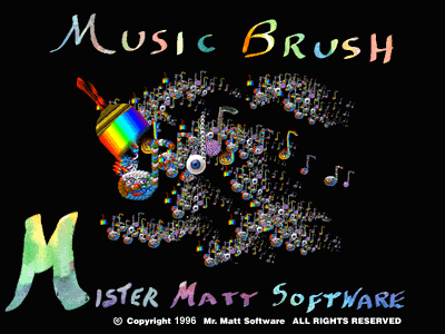 Title screen from Music Brush