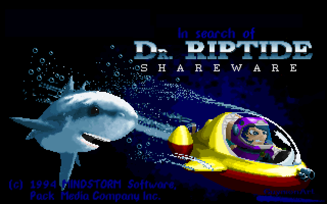Title screen from In Search of Dr. Riptide