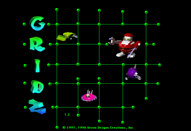 Title screen from Gridz